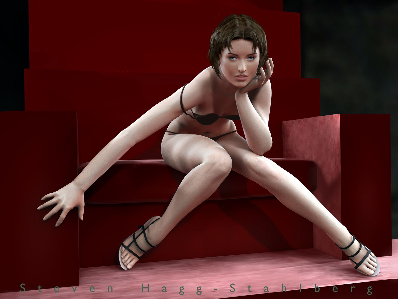 Девушка. Работа в 3D Studio Max. добавил: Админ cкачано: 91 раз.